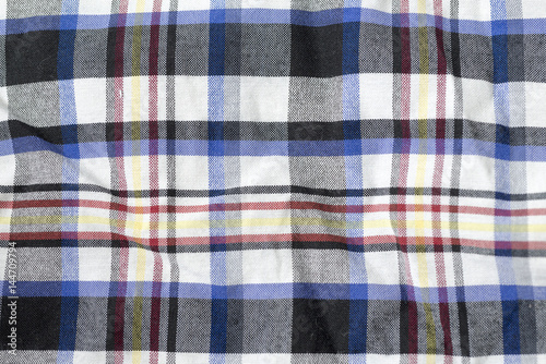 Poster Plaid fabric with different colors.