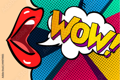 Open mouth and WOW Message © vectorstory