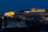 Parthenon of Athens at night time, Greece