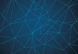 Abstract Polygonal Space Blue Background with Connecting Dots and Lines  Network
