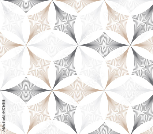 flower pattern vector, repeating linear petal of flower, monochrome stylish - 144736588