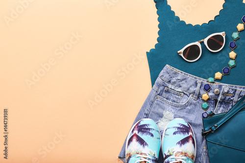 Plakát Fashion Design Hipster Accessories. Urban Outfit