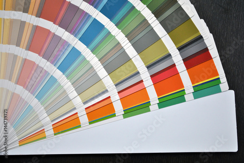 Poster Wall color samples; color pallete background.