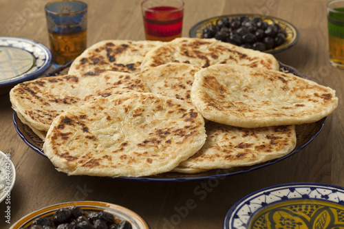 Fotobehang Marokko Traditional Moroccan pancakes for breakfast breakfast