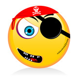 Emoji Emoticon  Pirate Wall Sticker