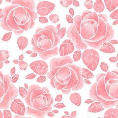 Hand drawn watercolor floral seamless pattern. Background with flowers