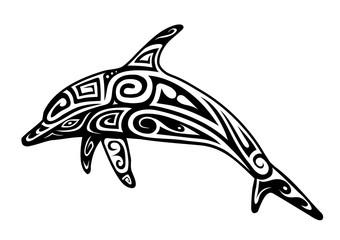 Dolphin tattoo shape