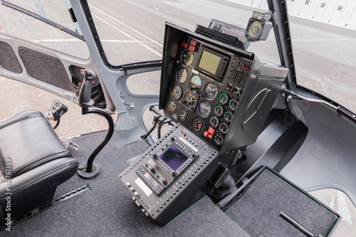 Plakat Cockpit helicopter - Instruments panel