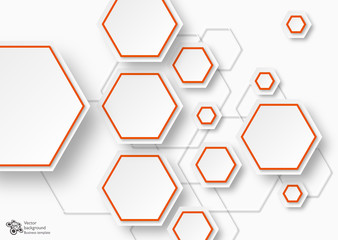 Infographics Vector Background #Hexagons and Honeycomb Structure