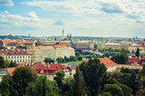 Beautiful panorama view of Prague and its architecture