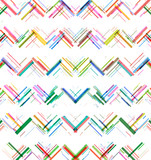 Colorful lines, zigzag pattern with stylish retro color tones. - 144771366