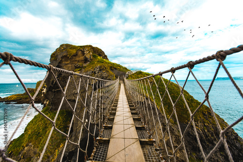 Carrick-a-Rede Rope Bridge (On Bridge) Poster
