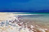 Dead Sea of salt on coast