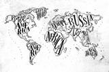 Worldmap vintage paper - 144777945