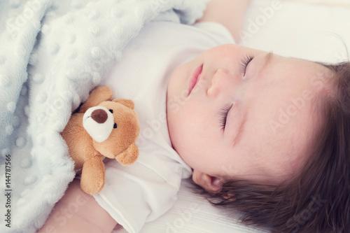 Little baby boy sleeping Poster