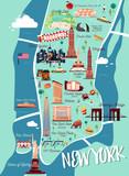 New York Manhattan Illustration Map - 144797719