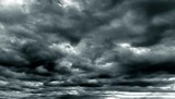 Dark cloudy sky in rainy season - 144803782