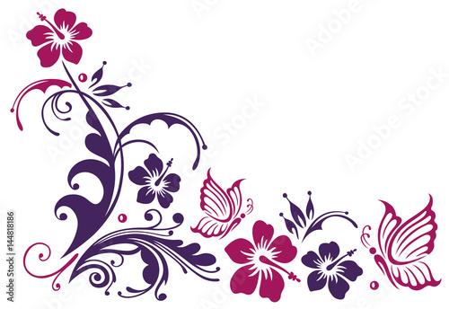 gamesageddon  florale ranke mit hibiskus und