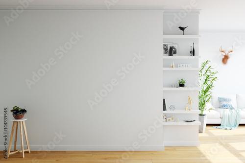 makiety do wnętrza ściany. Skandynawski styl. Wall art. 3d rendering, 3d ilustracja