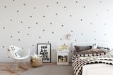 Fototapety mock up wall in child room interior. Interior scandinavian style. 3d rendering, 3d illustration