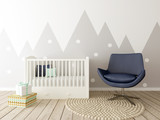 Baby Room Interior, Nursery Room Decor