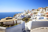 City of Oia on Santorini Island (part of the Cyclades).