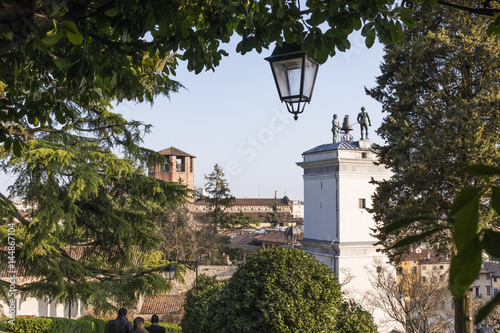 Plakat Statues with clock on Loggia di San Giovanni in Udine