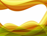 abstract background, yellow brown waves