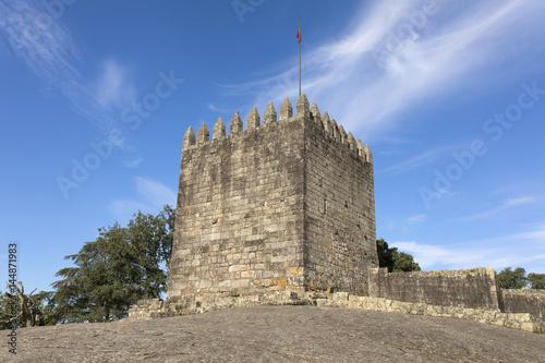 Castle of Povoa de Lanhoso against blue sky, north of Portugal Poster