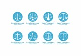 Set of Circle Law Firm Logo Template - 144880119