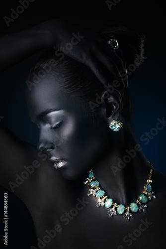 aquamarine necklace beauty