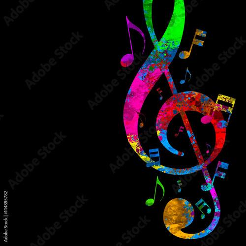 Fotobehang Muziek Colorful Musical Notes