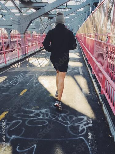 Zdjęcia na płótnie, fototapety, obrazy : Early morning jogging man