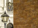 Ziegelmauer neben historischem Gebäude Hofburg, Österreich, Wi