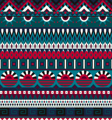 Ethnic seamless pattern. Geometric tribal ornament. Folk style. Colorful abstract background. Can be used for wallpapers, textiles, fabrics, wrapping paper, cover. Vector illustration, eps10