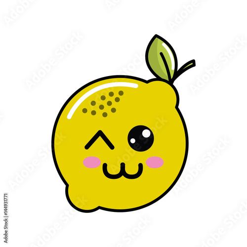 kawaii nice happy lemon icon