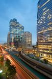 Sathorn Intersection, BTS Chong nonsi Skytrain, Downtown Bangkok, Thailand