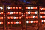 Traditional Japanese Lanterns in Red and White Colors