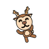 drawing deer animal character vector illustration eps 10