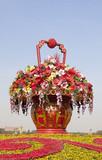 Flower statue.Beijing, China
