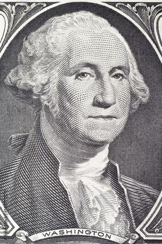 Washington  George portrait on dollar bill Canvas Print