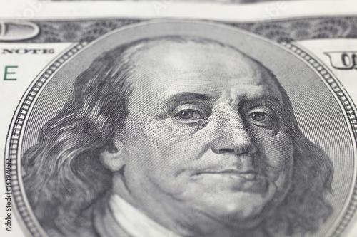 Franklin Benjamin portrait on dollar bill Canvas Print