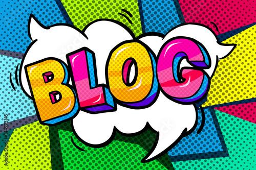 Blog word bubble.