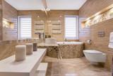 Fototapety Marble beige bathroom
