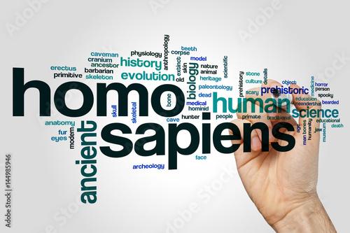 Homo sapiens word cloud Poster