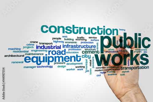 Public works word cloud