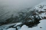 Winter coast of Barents Sea. Kola Peninsula, Russia