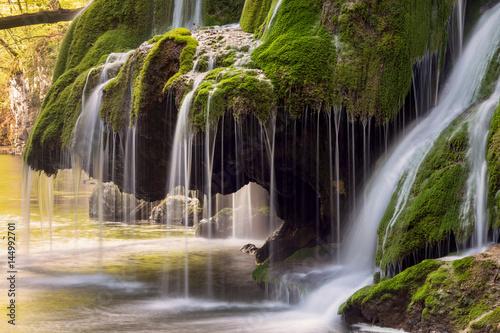 Beautiful mountain waterfall  - 144992701