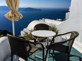 Table and Chairs overlooking Mediterranean Sea