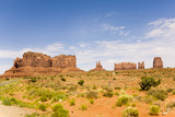 The King on his Throne is a giant sandstone formation in the Monument valley